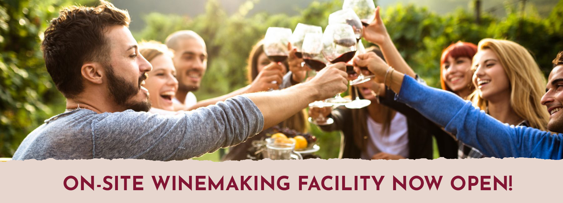 Winemaking Facility now open